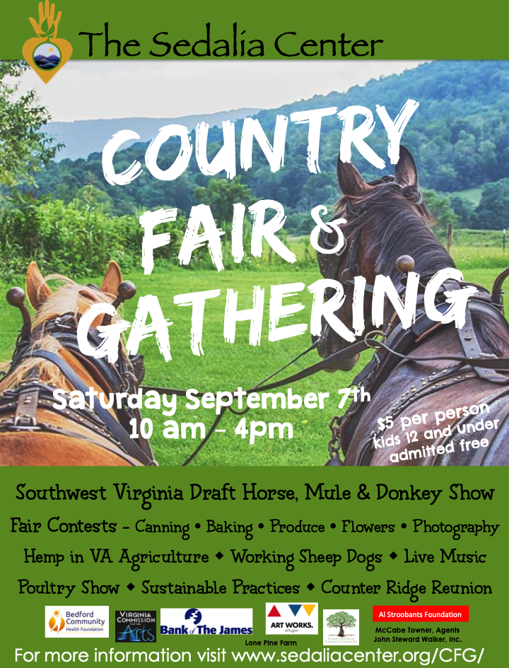 2019 Country Fair & Gathering at the Sedalia Center