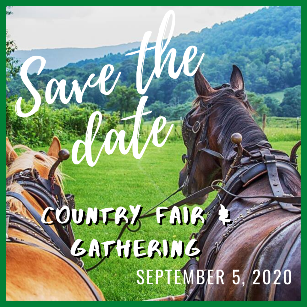 Save the Date- Country Fair & Gathering