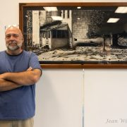 Mike Milton exhibited his artwork of Blue Ridge Views- Art from Appalachian Counties in the gallery.