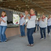 The Bedford County Senior Line Dancers opened up the Country Fair with a number of dances.