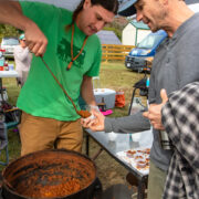 Ben Coleman serves up some chili.