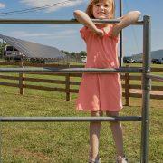 Harper Lee loves to climb the monkey bars.