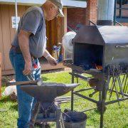 L. T. Skinnell of Otter Hill Forge gave blacksmithing demonstrations.