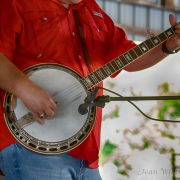 The audience loved the banjo picking with Dale Overstreet Bluegrass Band.